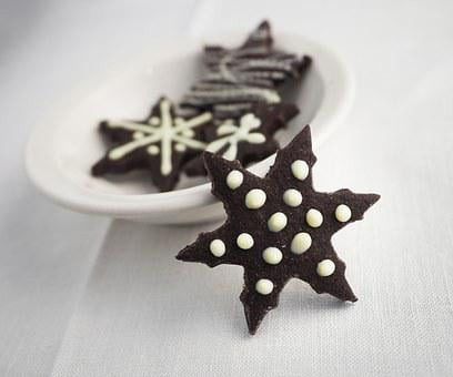 Chocolate, Cookie, Biscuit, Baked, Christmas, Holiday