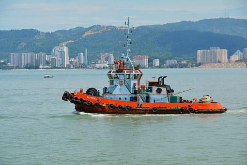 Tug, Boat, Ship, Vessel, Tugboat, Maritime, Towing