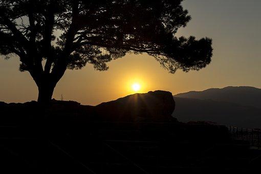 Sunset, Taylor, Mountain, Landscape, Nature, Tree, Sky