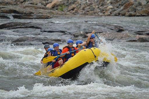 Rafting, Whitewater, River, Water, Sport, Raft, Boat