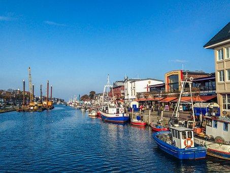 Warnemünde, Boats, Holidays, Baltic Sea, Port, Ship
