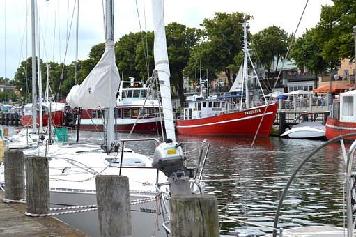 Warnemünde, Old Power, Baltic Sea, Ship, Fishing Boat