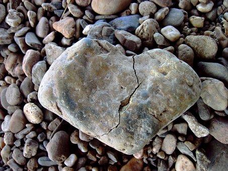 Broken Heart, Crack, Love, Hatred, Stone, Broken