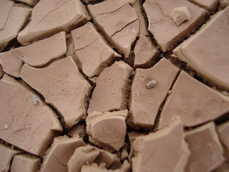 Clay Soil, Dehydrated, Desert, Dry, Hot, Parching