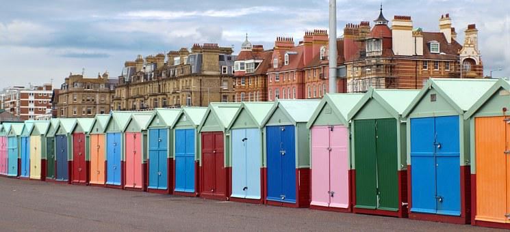 Hove, Brighton, Beach, England, Cottages, Hove Huts