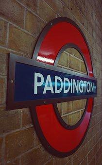 Metro, Sign, London, Station, Paddington