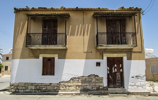 Cyprus, Kalo Chorio, Village, Street, House, Old