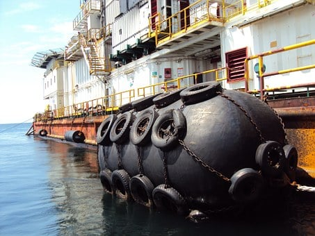 Africa, Gabon, Platform, Drilling, Yokohama, Fender
