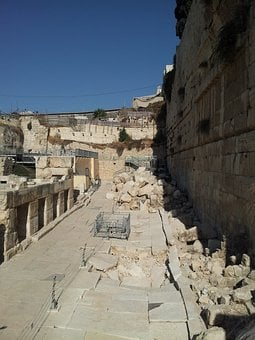 Ancient Walls Of Jerusalem, City Of David, Israel