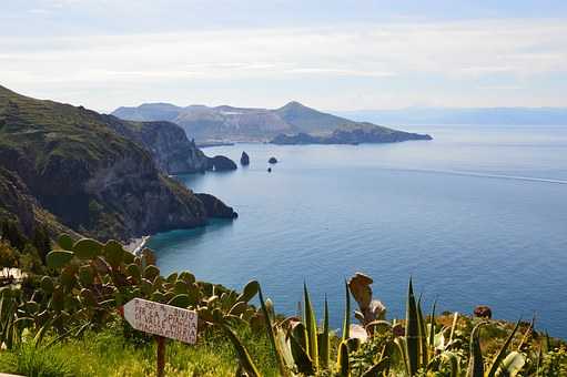 Lipari, Sicily, Sea, Nature, Coast, Water, Sun, Italy