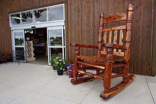 Rocking Chair, Store Front, Rocker, Plants, Plant Shop