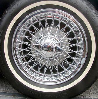 Chrome, Car Wheel, Spoke Wheel, Oldtimer, Vintage Car
