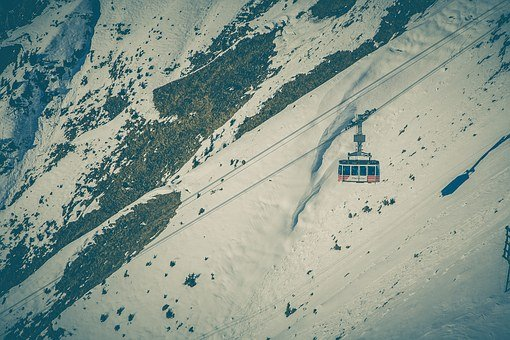 Gondola, Lift, Cable Car, Skiing, Alpine, Winter