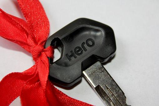 Key-head, Scooter, Hero, Gift, Macro, New, Bike