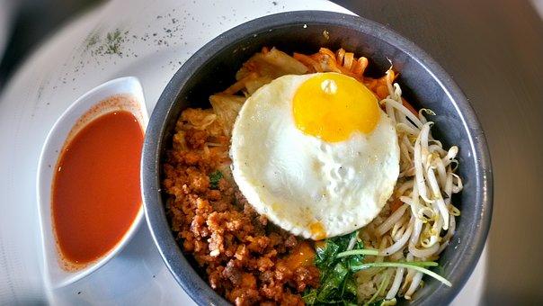 Bibimbap, Korean, Cuisine, Rice, Egg, Fried Egg, Asian