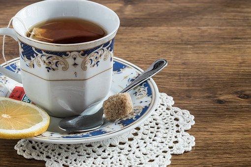 Tea, The Drink, Teacup, Lemon, Sugar Cube, Relaxation
