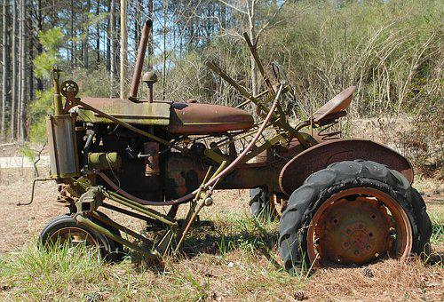 Rusty Tractor, Rustic, Old, Farming, Grunge, Tractor