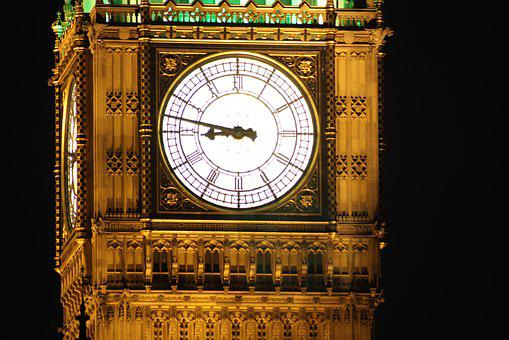 Big Ben, London, Clock, Landmark, England