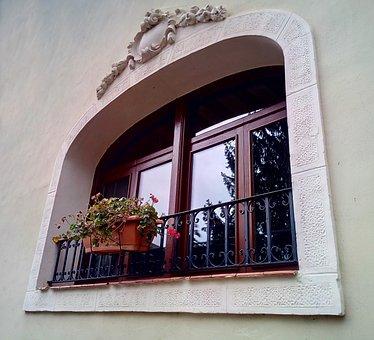 Window, Flowerpot, Facade, Old, House, Flirtatious
