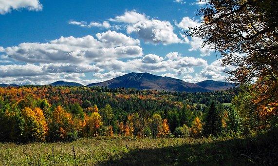 Burke, Vermont, Northeast Kingdom, Clouds, Green