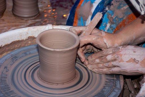 Clay, Potter, Wheel, Artist, Hand, Handmade, Work