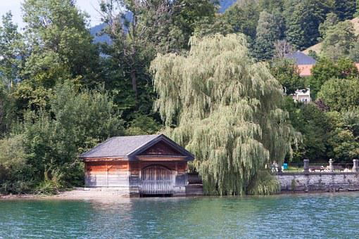Boat House, Old, Antique, Wood, Architecture