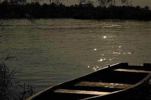 River, Poland, Landscape, Nature, Company, Glow, Boat