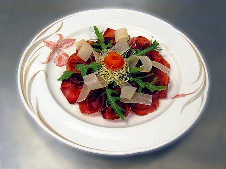 Starter, Meat, Dried Meat, Bündnerfleisch, Carpaccio
