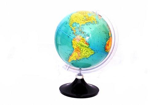 Globe, World, Atlas, Map, School, Earth, Tools