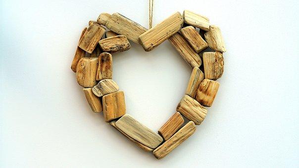 Wooden, Heart, Love, Happy, Romantic, Wood, Happiness