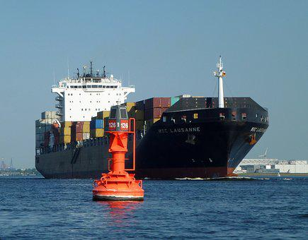 Container, Maritime, Ton, Boje, Ship, Elbe, Port