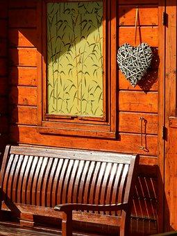 Heart, Home, Love, Romantic, Romance, Wooden Door, Old
