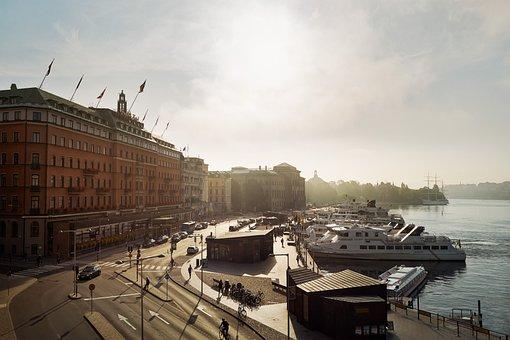 Stockholm, Grand Hotel, Waterfront, Swedish, Sweden