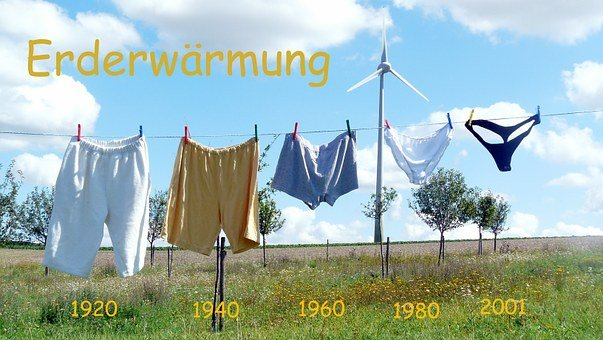 Global Warming, Clothes Line, Underwear, Underpants