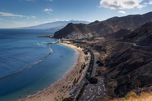 Playa Las Teresitas, Sand Beach, Mass Tourism