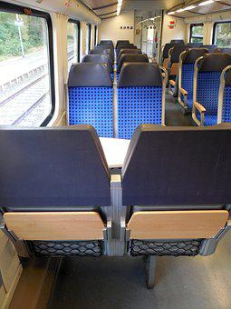 Train, Travel, Compartment, Zugabteil, Sit, Lonely