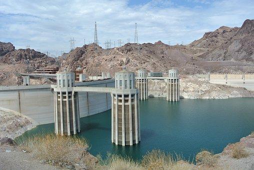 Hoover, Dam, Nevada, Arizona, Energy, Hydroelectric