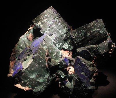 Malachite, Azurite, Mineral, Rock, Stone, Crystals