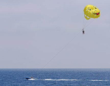 Parasailing, Mediterranean, Powerboat, Screen, Leisure