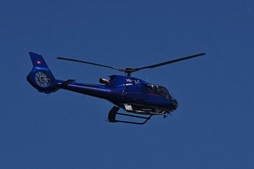 Helicopter, Aircraft, Heli, Fly, Perpendicular, Land
