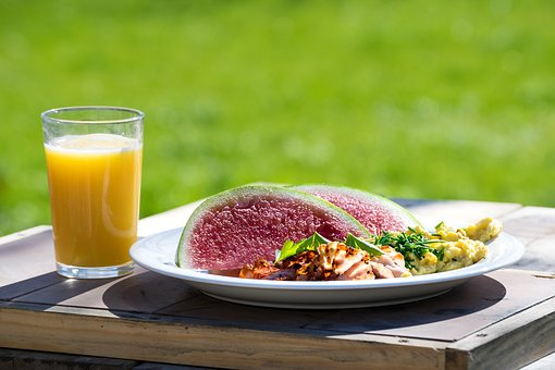 Breakfast, Juice, Sunny, Watermelon