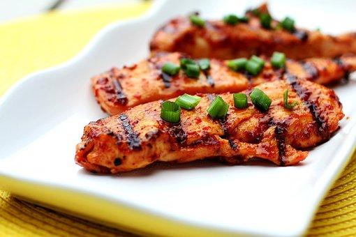 Food, Grilled, Chicken, Spicy
