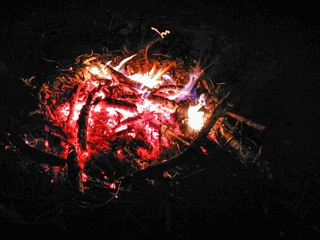 An Outbreak Of, Night, Fire, Flames, Forest