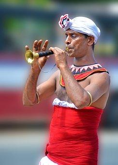 Parade, Local Trumpet, Musician, Ritual, Sri Lanka