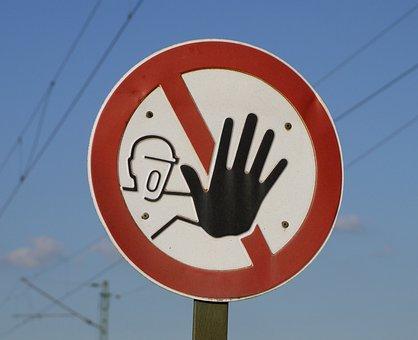 Stop, Risk, Warning, Lock, Stop Sign, Works Premises