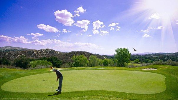 Golf, Sunset, Sport, Golfer, Bat, Outdoor, Man, Human
