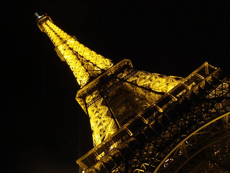 Paris, Eiffel Tower, Tower, Lighting, Architecture