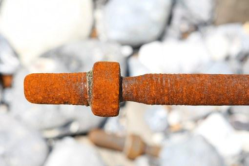 Salt Water, Bolt, Corroded, Corrosion, Decay, Nut