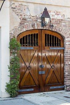 Stable Doors, Brick, Building, Stable, Wooden, Door