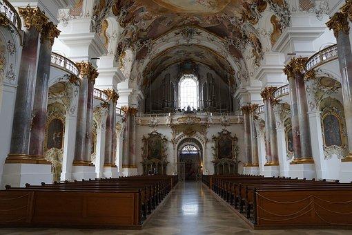 Church, Zwiefalten, Religion, Building, Baroque